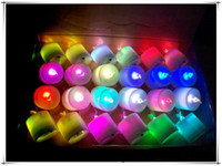 Wholesale holiday gift LED candle colorful candle Light Flameless LED Tealight Tea Candles