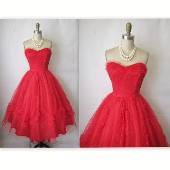 A line red wedding dresses sweetheart tea length lace ball for Red tea length wedding dress
