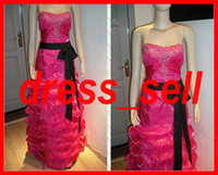 Wholesale Stunning Quinceanera Charming Dresses Gown Sweetheart Beaded Ribbon Sash Ruffle Skirt A Line Yarn