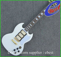 Solid Body 6 Strings Mahogany Alpine white sg custom 3 pickups gold hardware electric guitar China Guitar