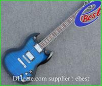 Solid Body 6 Strings Mahogany China Guitar blue sg custom chrome hardware electric guitar free shipping