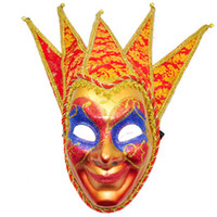 Wholesale Chiristmas wild party full face masks for juniors Shaikh masks multi colors festive party mask