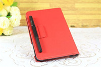 Wholesale 360 Degree Rotary Leather Stand Cover Case Pen Slot with Credit Card Slot for iPad minii Colors