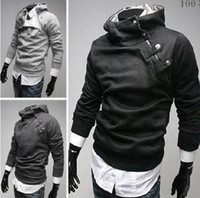 Wholesale High Quality New Men s Hoodies Sweatshirts Rabbit Hair Collar Oblique Zipper Men s Jacket Coat