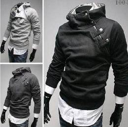 Wholesale High Quality New Men s Hoodies Sweatshirts Rabbit Hair Collar Oblique Zipper Men s Jacket Coat