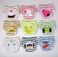 Wholesale 3 layers Animal Baby Potty Training Pants Waterproof Learning Pants Flowers Butterfly Cotton