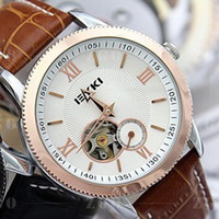 Wholesale Korea automatic mechanical watches men genuine trend Tourbillon hollow belt