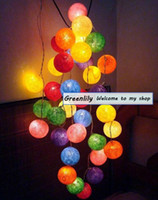 Wholesale Romantic Christmas Ornaments Colorful Balls Light Balls from Thailand Presents String