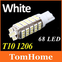 Wholesale 10pcs LED SMD LED Moto T10 W5W Side Wedge Light Lamp Bulb for License plate li