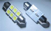 Wholesale 10 pieces mm Festoon Car SMD LED Vehicle Dome Map Interior Light Bulb Lamp White color