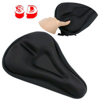 Wholesale Cycling Seat Saddle Cover D Gel Silicone Comfortable Black Bike Bicycle
