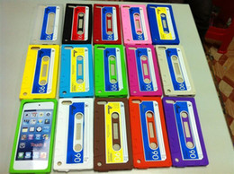 Wholesale Tape Cassette Classic soft silicone rubber case back cover for Itouch ipod touch th touch5 case