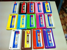 Wholesale Classic Tape Cassette silicone rubber TPU case back cover for ipod touch th touch5 case