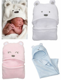 Wholesale Monkey Adorable Baby Blankets Children Blankets Quilts Animal White Blue Pink Dim CM pc