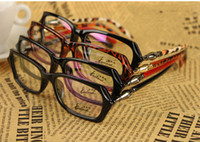 Full-Rim bamboo legging - Brand OPtical Frames Fashion Eyeglasses Frame With Clear Lens Bamboo Legs Style lotWD8809