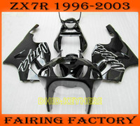 White blk moto aftermarket fairing for KAWASAKI Ninja ZX7R 1...