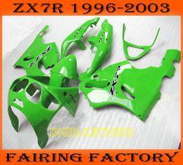 Light green moto aftermarket fairing for KAWASAKI Ninja ZX7R 1996-2003 ZX 7R 96 97 98 99 00 01 02 03