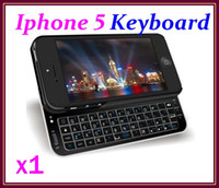 Wholesale CHpost Black White Bluetooth Sliding Lighted qwerty Keyboard Case for iPhone G RW PK01