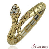 Women's Thanksgiving Day African Personalized Punk Style Springy Cuff Snake Gold Cool Ankle Bracelets Unique Jewelry zms-4