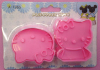 Wholesale hello ketty Biscuit Cutter Molds Pastry Decorating Tools Food grade resin material