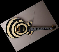 Solid Body chinese guitars - NEW Black and cream Bullseye Electric Guitar Chinese guitar Christmas gifts in left handed