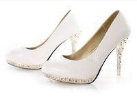 Wholesale New Style White Color Wedding Dress shoes Ladies Women s Shoes High Heels Platform shoes piece order