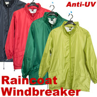 Wholesale NEW Unisex Outdoor wear Polyester jacket Waterproof Raincoat Hoodie windbreaker for sport OG