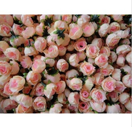 DIY craft with flower wholesale simulation flowers filming property small rose bud wedding flower