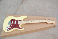 Wholesale 2012 Hot Selling Beige Guitar Strings Electric Guitars Red Pickguard Musical Instruments