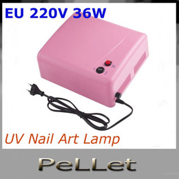 Wholesale Factory price W UV Nail Art Lamp Gel Curing Tube Light Dryer EU V