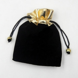 100pcs lot Black Velvet Jewelry Gift Bags Pouches Packaging For Craft Jewelry Gift B09* Free Shipping