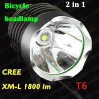 Head Lights bike light lumen - 1800 Lumen CREE XML T6 LED Bicycle Bike Headlight Lamp Flashlight Light Headlamp Outdoors Sports
