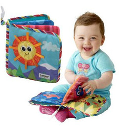 Wholesale New hot Lamaze three dimensional sound paper BB call Ring the bell baby toys cloth book English A