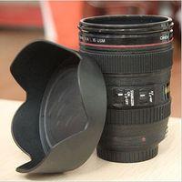 Wholesale Plastatic travel Coffee camera lens cup mug sport lens cup