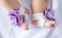 Wholesale 10 pairs top baby Foot flower Baby Sandals Barefoot Sandals Baby Shoes Toddler Shoes