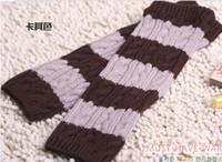 Wholesale 5pcs knitting wool Women s Glove Winter warm Knitting gloves stripe Extended gloves