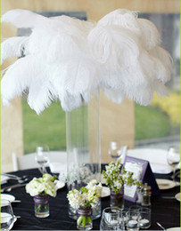 Wholesale inch Ostrich Feather Plume white Wedding centerpieces table centerpiece decor party event decor