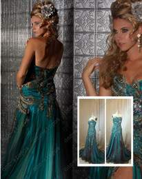 Wholesale 2012 Hot sale Sexy Sweetheart Tulle Fake Peacock Celebrity Dresses Evening Dresses md42660m