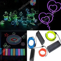Wholesale 50pcs L80 Light Models Green Blue Red m Flexible Neon Light Glow mm EL Wire Rope Tube