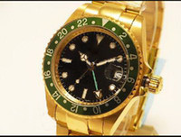 Luxury Men's Self Wind dive gmt men watch Luxury all gold Sell well Men's Watches fashion good Xmas gift Stainless steel