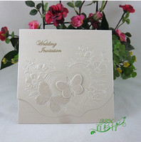 Wholesale Butterfly D Floral Wedding Invitaions Embossed Invitaion Cards Wedding Favors