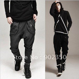 Wholesale autumn casual pants mens fashion harem pants leisure cotton sport trousers zipper