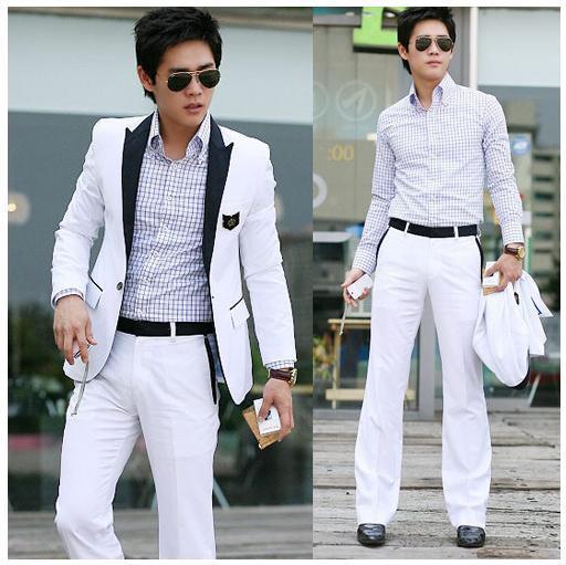 2017 Xj#hot Sale Fashion Men's Suit Coat Top One Or Pants Button ...
