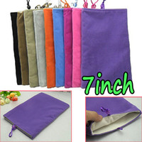 Wholesale New Soft Velvet Sleeve Case Skin Pouch Bag for A2 A2107 Google Nexus P6200 A100 inch quot DHL EMS