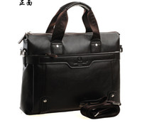 Wholesale Fashion leather computer bag handbag men s bags shoulder bag man inclined ku recreation bag service
