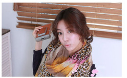 Wholesale leopard scarf Fashion printed scarves woman lady lovely 3COLOC 30PCS LOT Mixed colors