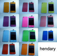 Wholesale for iphone G S colourful LCD touch screen assembly with back cover DHL