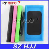 Wholesale TPU Gel Case for Apple iPod Nano th Plastic kickstand Protective Back Cover