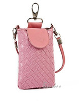 Wholesale lovely woven messenger bag purse packet phone cheap color HOT