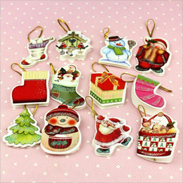 Wholesale Foldable Chirstmas gift card christmas tree greeting card patterns mix order
